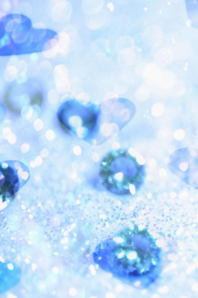【人気54位】【女子向け】青い宝石のキラキラ壁紙 | iPhone壁紙ギャラリー