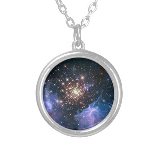 NASAs NGC3603 star cluster jewelry necklace