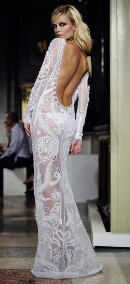 White Backless Lace Perfect - This will be my wedding dress.