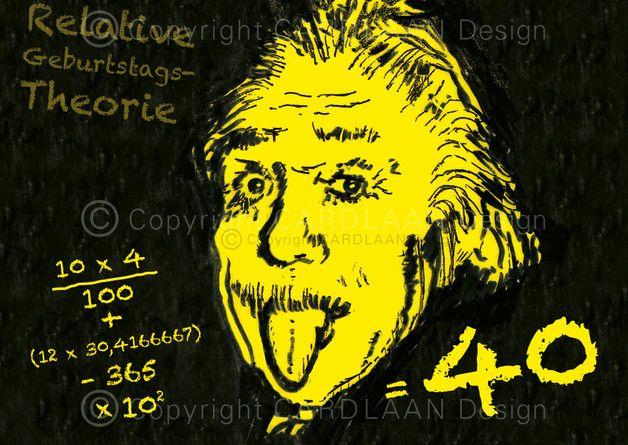 Einladung 40. Geburtstag (Einstein)