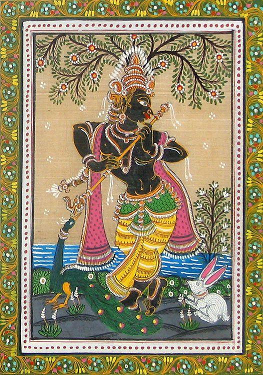 Lambs Breath • The patachitra, the folk painting of Orissa, has a...