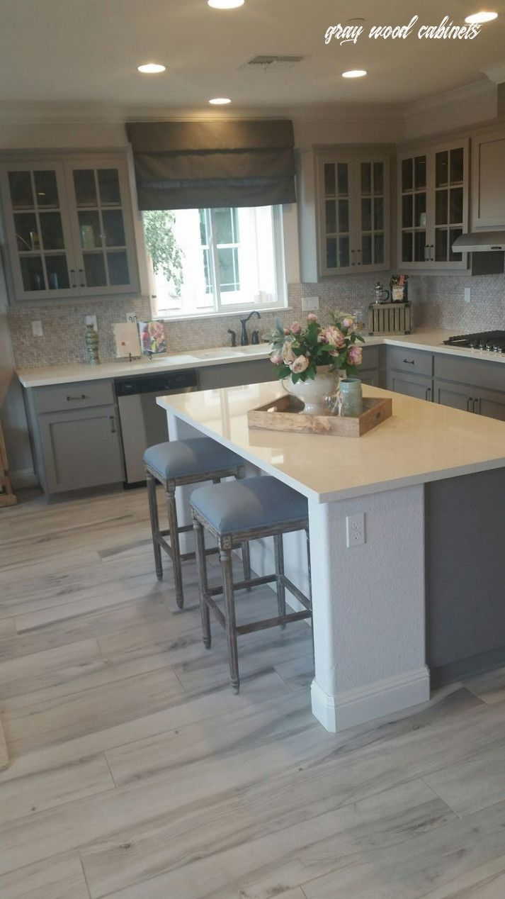 10 Facts About Gray Wood Cabinets That Will Blow Your Mind In 2020 Grey Kitchen Floor Kitchen Design Grey Kitchen Cabinets