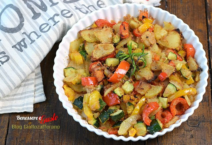 Verdure al forno, contorno light veloce, un mix di verdure gratinate al forno da gustare in totale leggerezza. Poco olio e senza sale. Trucco ricette light buonissime