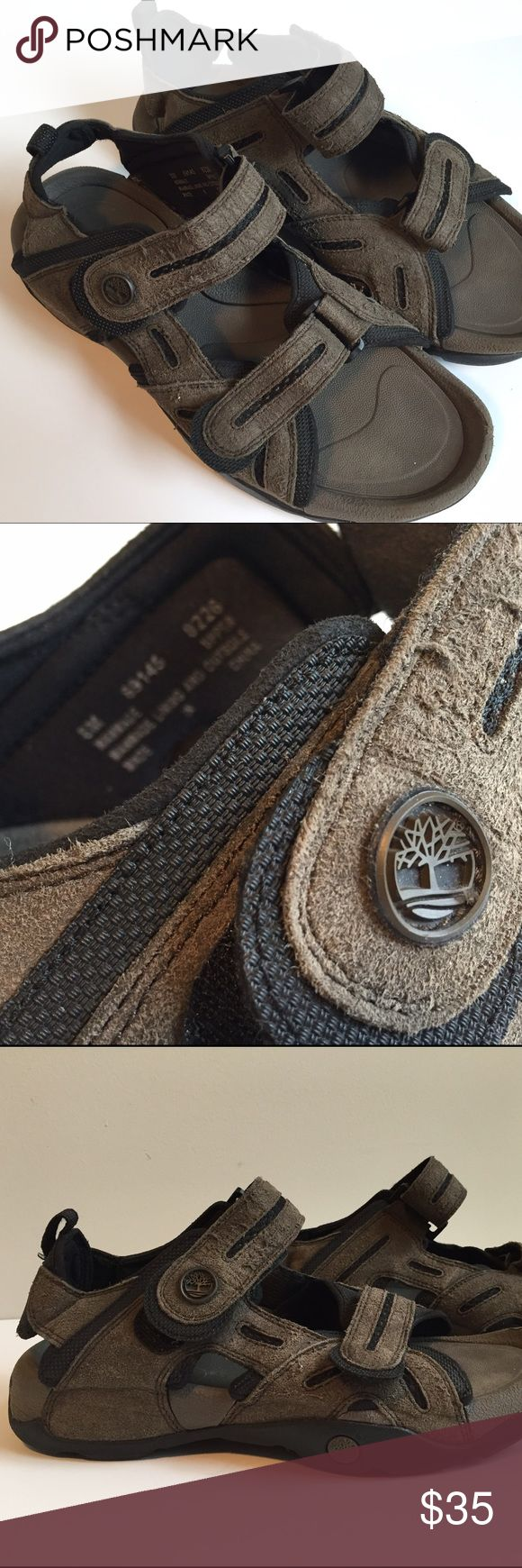 TIMBERLAND 🌳 quality mens sturdy sandal spring Very good condition high quality pre owned Timberland brand brown shoes sandals. These spring summer sandals are in great condition and are ready for some barbecue action! Mens size 8 , featuring straps around the toes and ankles for a secure and perfect fit 👌🏽 Timberland Shoes Sandals & Flip-Flops