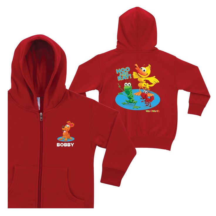 WordWorld Hoo and Ray Red Zip-up Hoodie