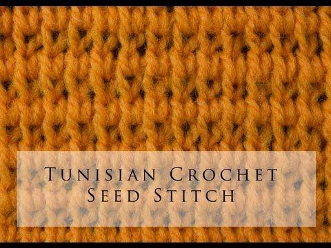 Tunisian Crochet Seed Stitch <3
