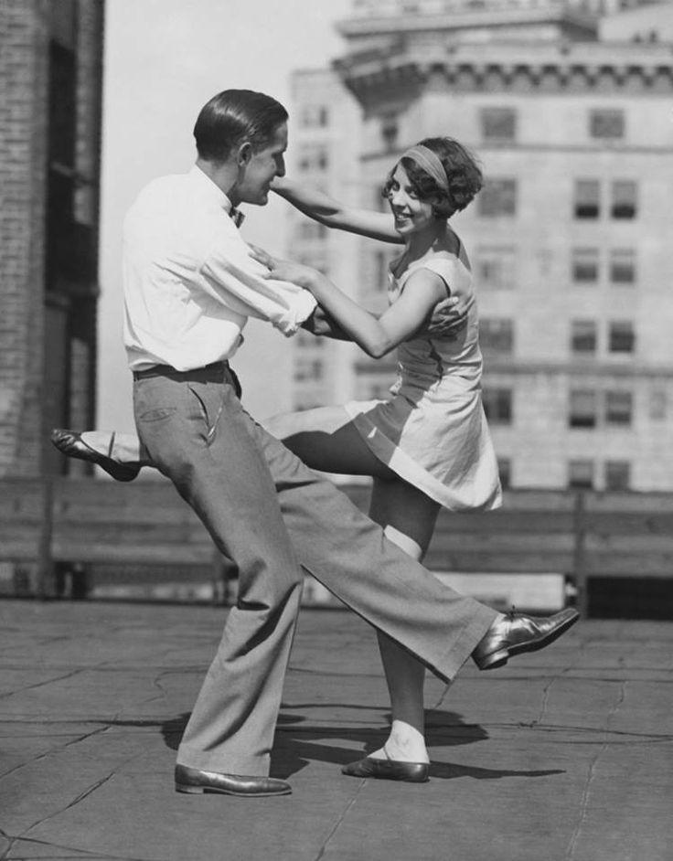 The feeling of dancing. Swing: step-step-rock step; a dance full of energy, very tiring