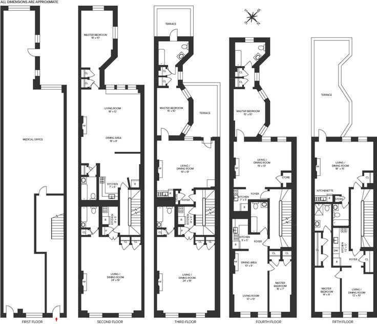 29 Best Townhouse Floor Plans Images On Pinterest