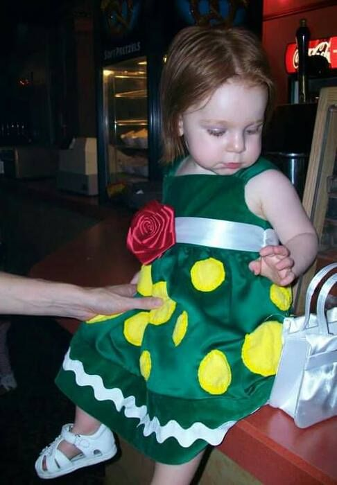 This is just about the cutest Dorothy the Dinosaur dress ever!  #TheWiggles #WigglyFans