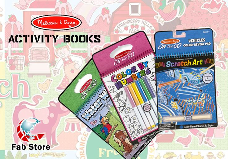No-mess painting for kids! On the Go Colouring Books make the perfect travel toys! Pop it out to color in scenes, complete crosswords, find hidden pictures and more . . . Find yours at Fab Store outlet in Spinneys The Pearl - Madinat Centrale or visit www.fab-store.com