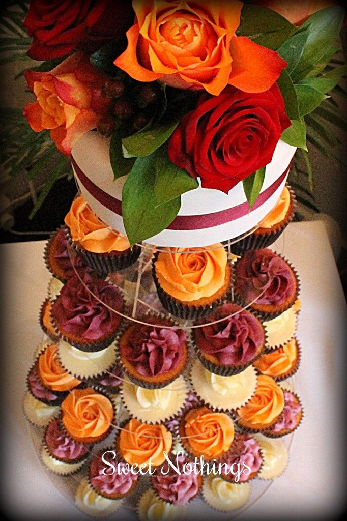 Autumn wedding cupcake tower  Sweet Nothings Cakes & Cupcakes