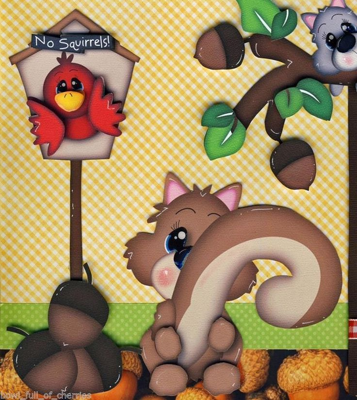 BUNCH OF NUTS ~ 2 Premade Scrapbook Pages FAMILY Paper Piecing 4 Album by CHERRY