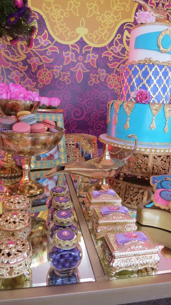 Unbelievable Princess Jasmine birthday party! See more party ideas at CatchMyParty.com!
