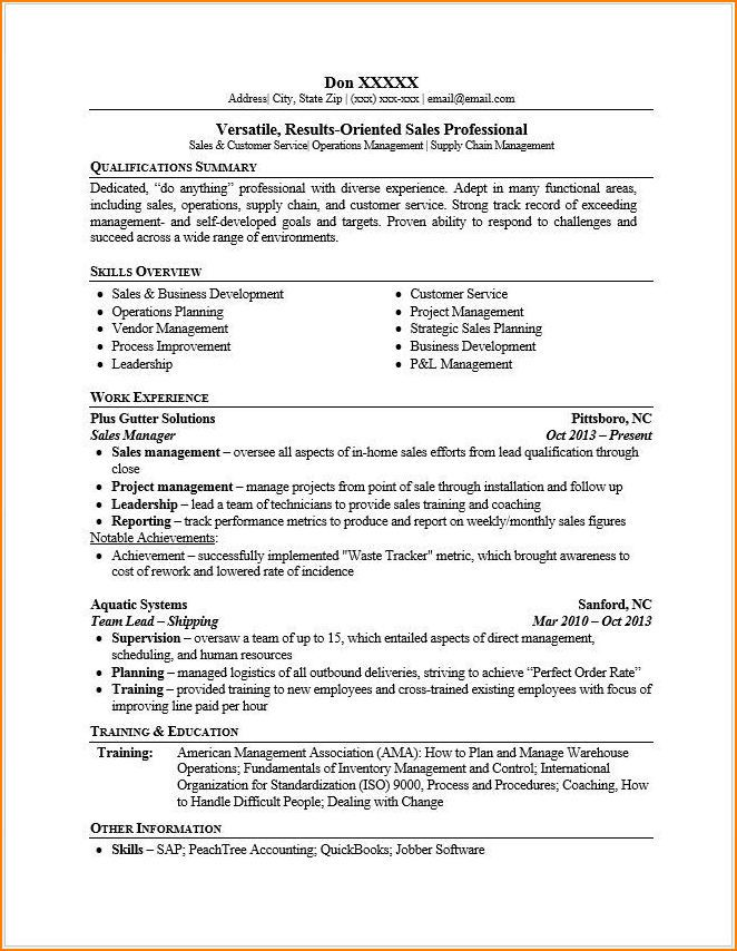 how to do a resume in english