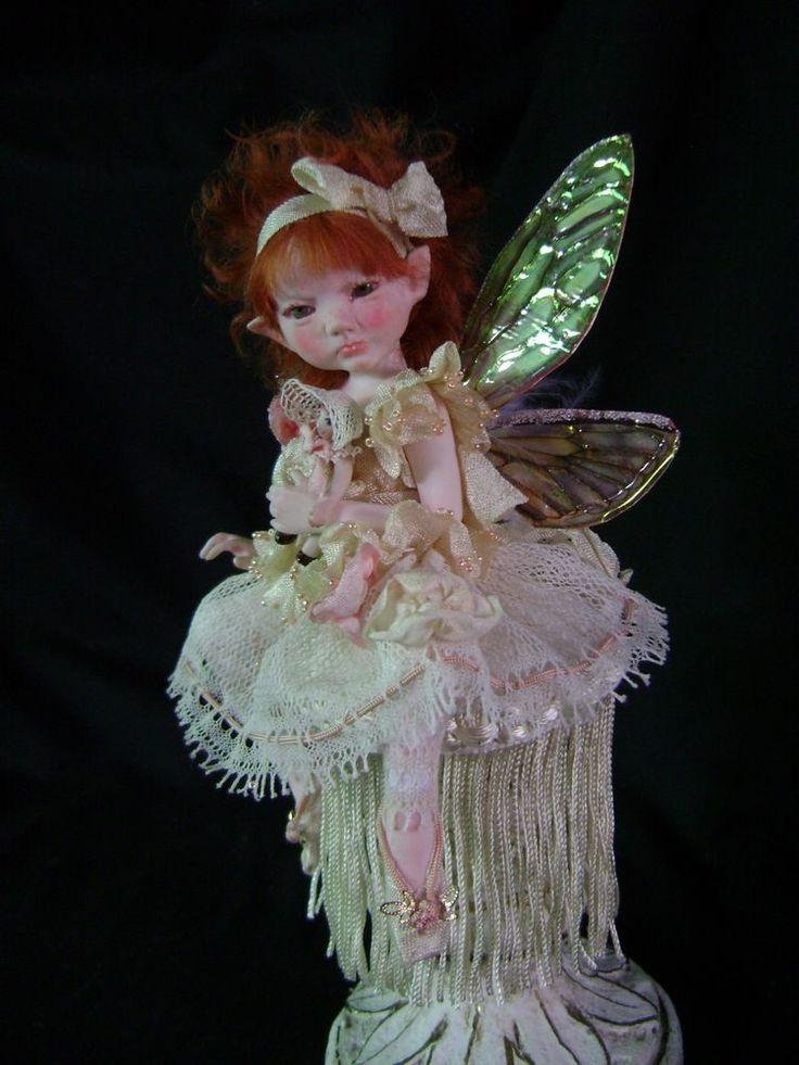 Once We Were Faeries Sweet Abigail Art Doll Fairy, owwf OOAK fairies collectible