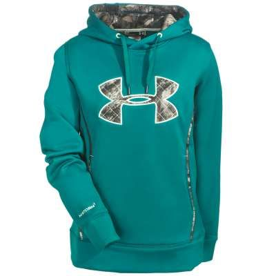 Under Armour Sweatshirts: 1247106 313 Caliber Storm UA Women's Emerald Sari Hoodie
