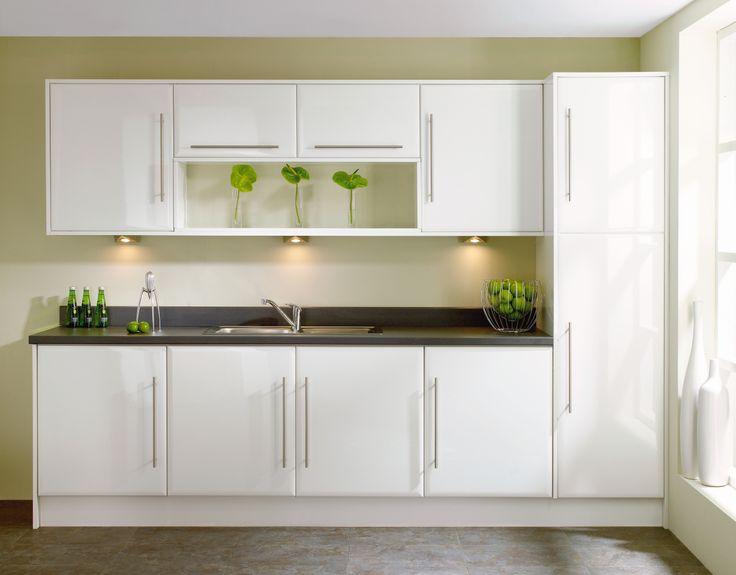#White #Monza #Kitchen from John Nicholls #HomeDecor