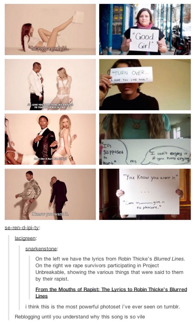 This is why blurred lines is a terrible song.