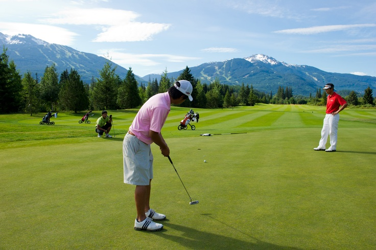 Golf vacations in Whistler resort.