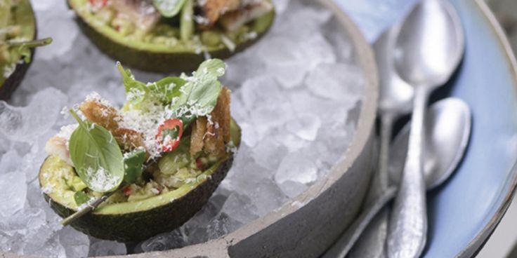 gevulde avocado's met paling