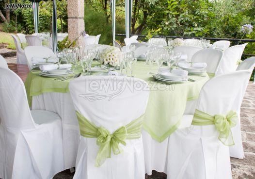 http://www.lemienozze.it/gallerie/foto-fiori-e-allestimenti-matrimonio/img31124.html Mise en place verde acqua per i tavoli del ricevimento matrimonio