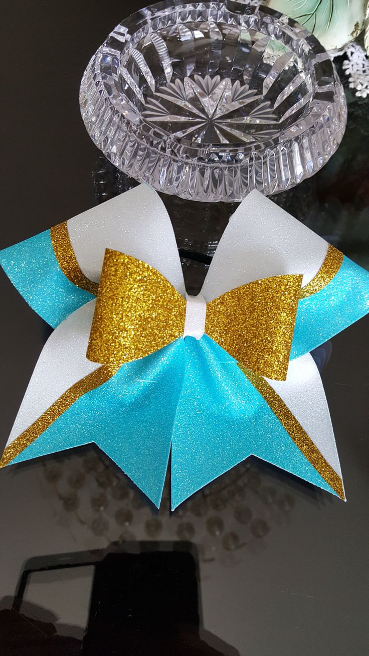 Bow Over Bow Cheer Bow by GlamourBowsByAnna on Etsy