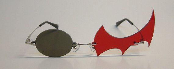 Red and black danganronpa Monokuma cosplay glasses by Akujinscos