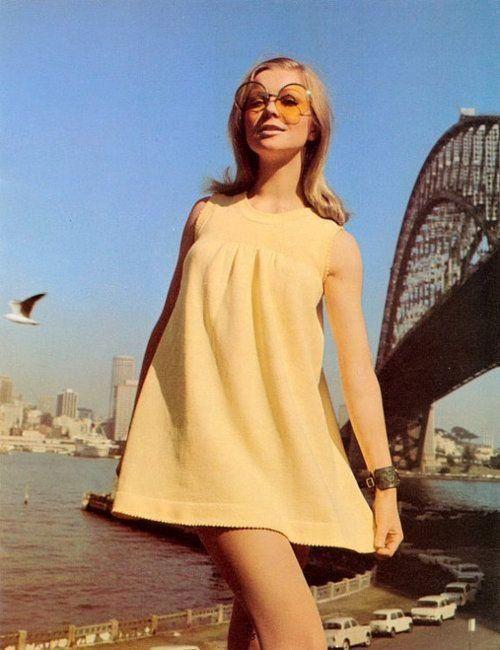 1960s yellow babydoll