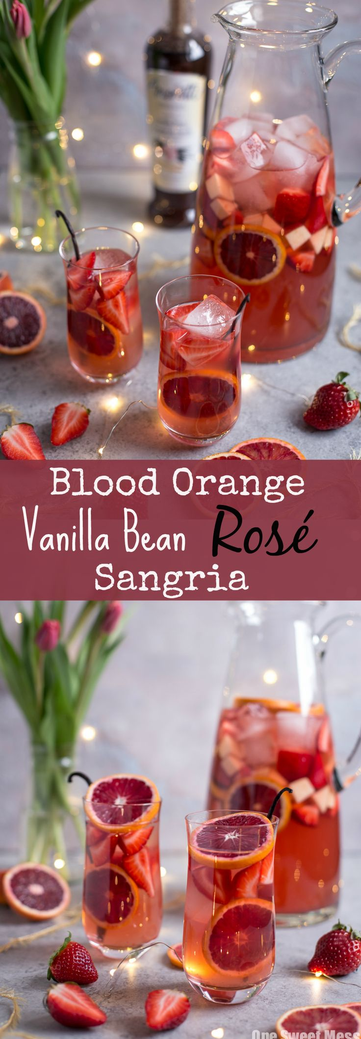Blood Orange Vanilla Bean Rose Sangria