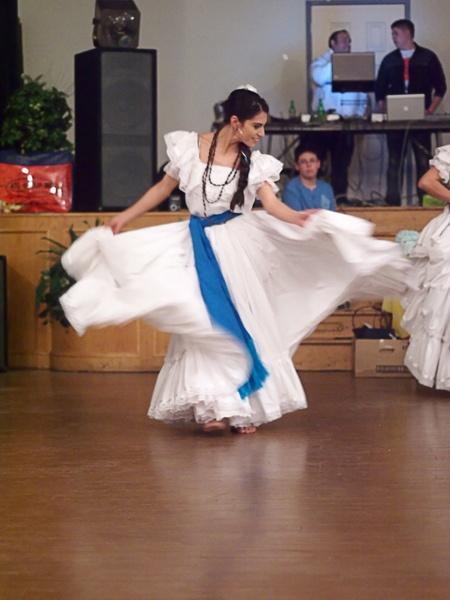 Nicaraguan Dancer at a benefit for impovershed schools in Nicaragua.