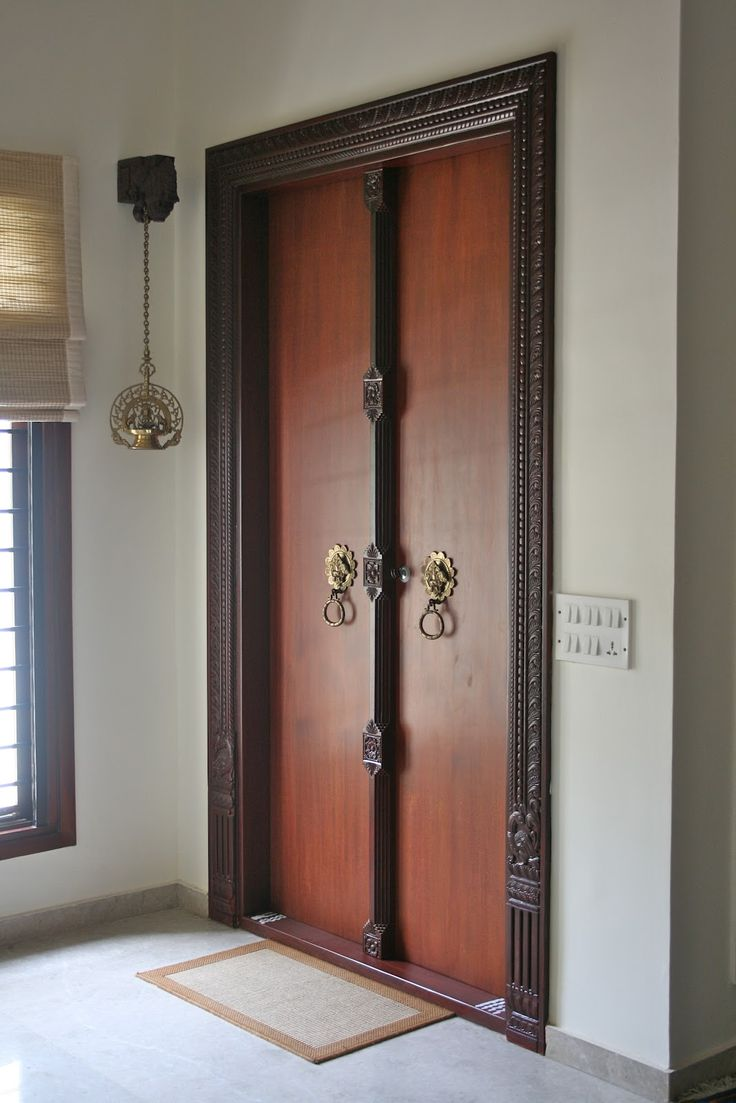 The home would be dressed in Indian theme. Don't you think looking at the grand Indian inspired #entryway.