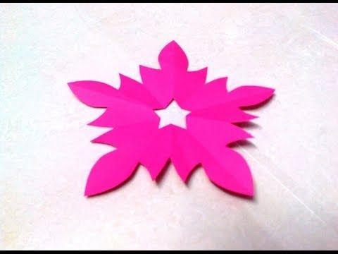How to make a KIRIGAMI paper blossom flower - 4