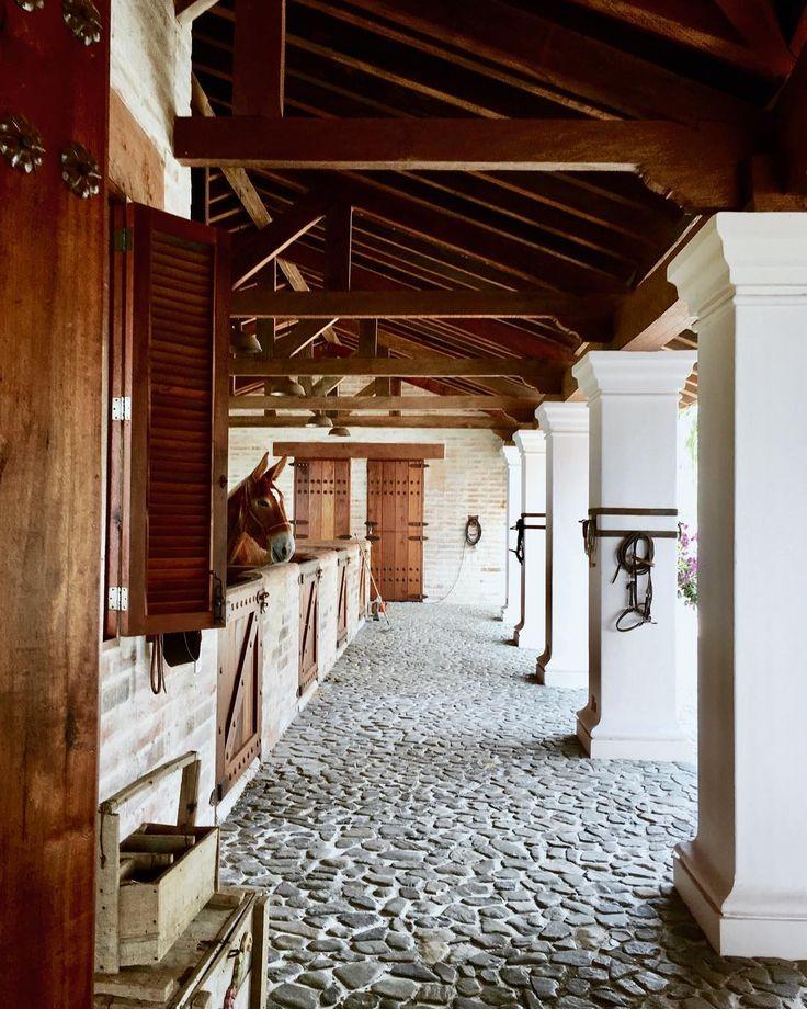 Project Casa El Zancudo Colombia ....... architecture#architecturephotography#horses#mules#stonefloor#corridor#interior#interiordesign#wood#style#countryside#homedesign#columns