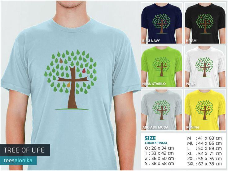 'Tree Of Life' — Kaos rohani. Size lengkap, mulai dari kaos anak sampai kaos dewasa. Bisa kompakan bareng sahabat, pasangan dan keluarga. All items ready stock. — Info/order: 087851338960 (WA / SMS) —