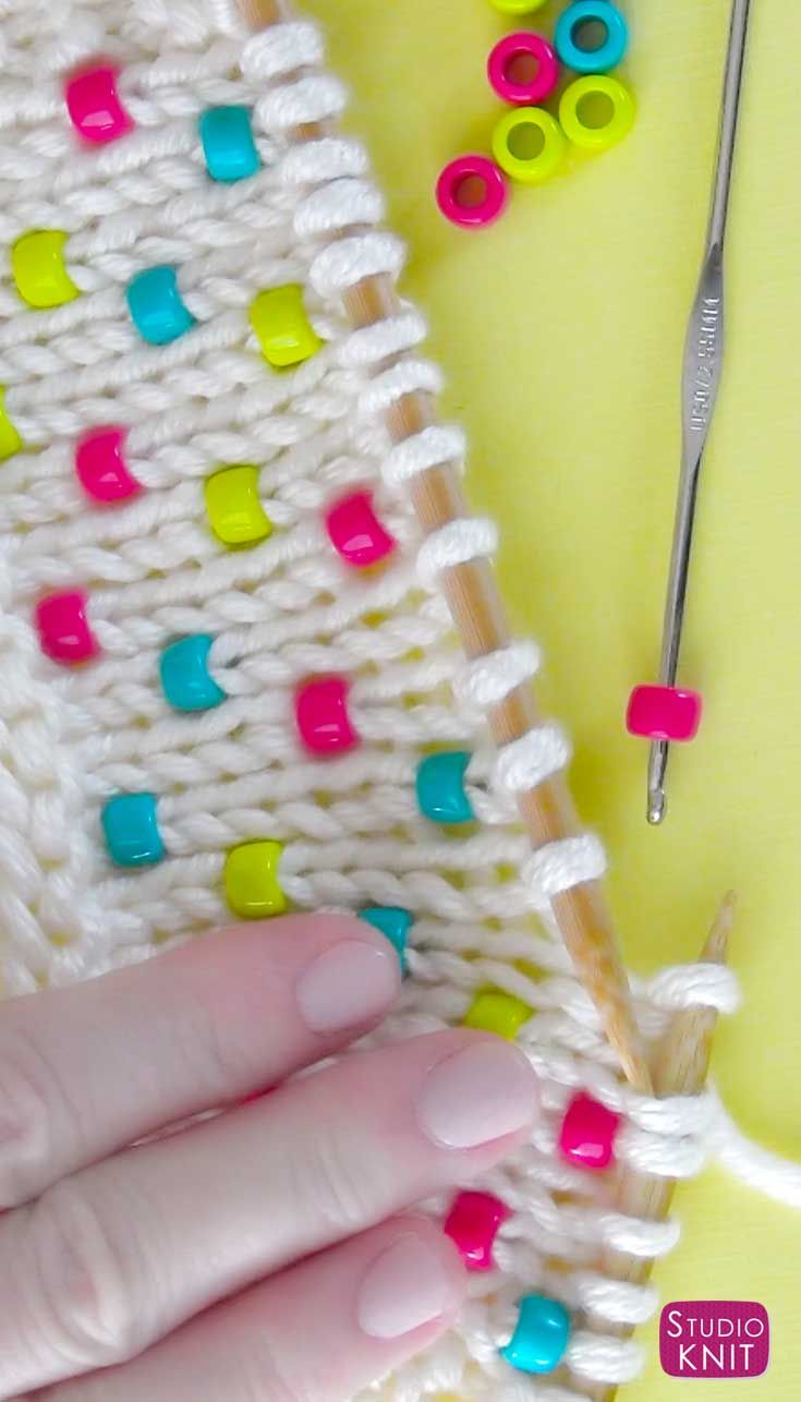 Knit Beads into any project