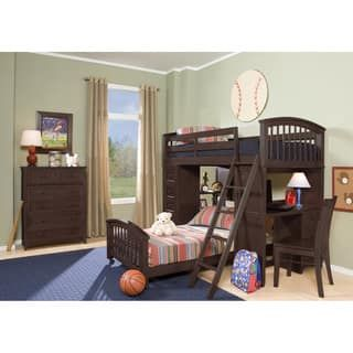 Shop for School House Chocolate Student Loft with Twin Lower Bed. Get free delivery at Overstock.com - Your Online Furniture Outlet Store! Get 5% in rewards with Club O! - 17733636