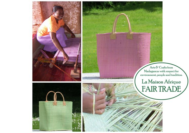 Fair Trade shoppingbasket handmade of sustainable natural fibres. #fairtrade #noplastic #sustainabelfashion