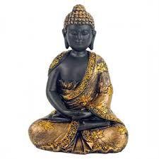 I VIANDANTI - Budda meditazione nero dorato