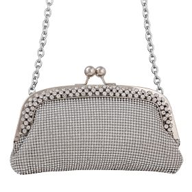 Buy Arcad Small Clutch Bag For Women, E29734, Silver at 89 AED - AWOK Online Store