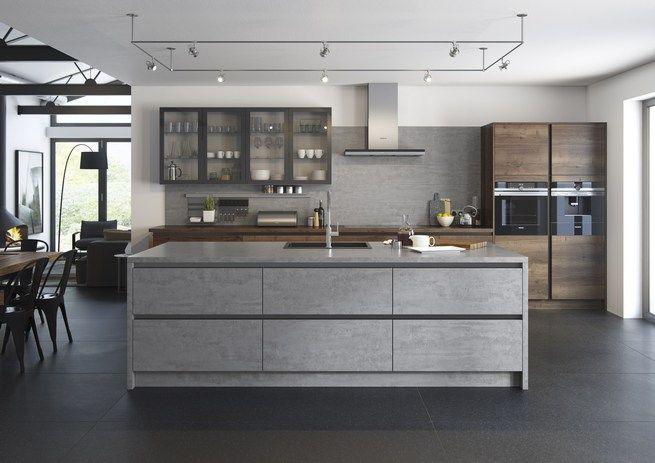 Tobacco Oak with Grey Satin and Dark Bronze Satin handleless  Mereway kitchen Cucina Colore new kitchen winchester hampshire