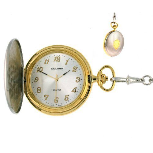 Colibri Pocket Watch Large Easy To Read Two Tone PWS095936N Colibri. $29.95. Easy to Read White Dial with Gold Numerals. Colibri Pocket Watch. Three Hand Quartz Movement. Case Diameter 49mm. Pocket Watch Chain Included. Save 66%!
