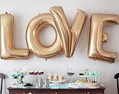 FREE SHIPPING bruiloft Decor liefde ballonnen goud folie Letter ballonnen bruiloft Bridal douche Engagement partij bruiloft Super Jumbo ballonnen