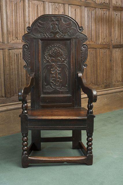 17th Century Wainscot Armchair: