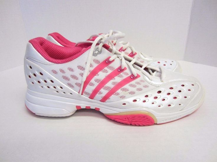 Adidas Shoes 10.5 White Pink ClimaCool Athletic Womens #Adidas #Tennis
