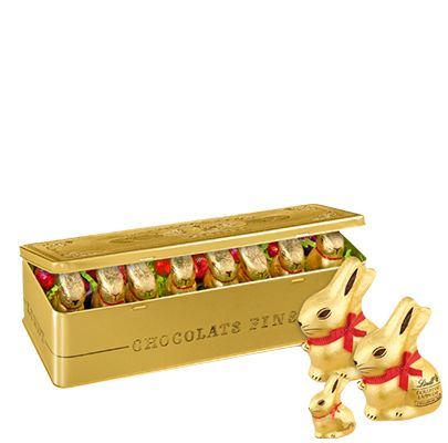 Coffret Collector Famille Lapin Or 295g - Chocolats LINDT, Boutique France