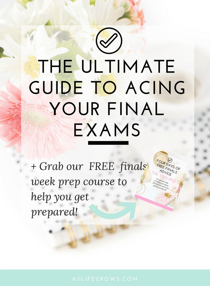 Are you ready to start preparing for final exams? If so, this post is full of tips on how to ace your final exams! Let's end this semester off right!