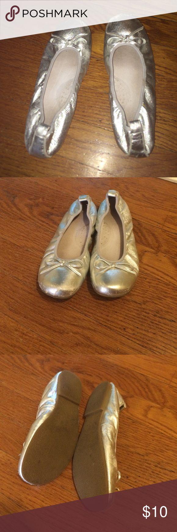 silver flats shiny cute silver flats! Shoes