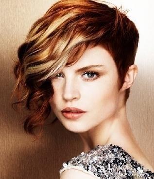 Burgundy Highlights | Black Hair Color: Curly Hair Highlight Ideas