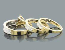 comment vendre votre bague en diamant bague de mariage bon marche met en or 18 carats de diamants trio set 2017