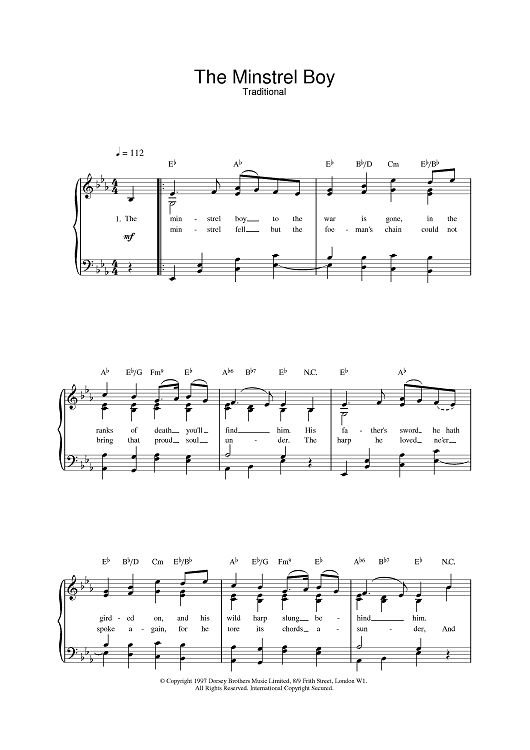 Best Irish Sheet Music Images On   Piano Pianos And